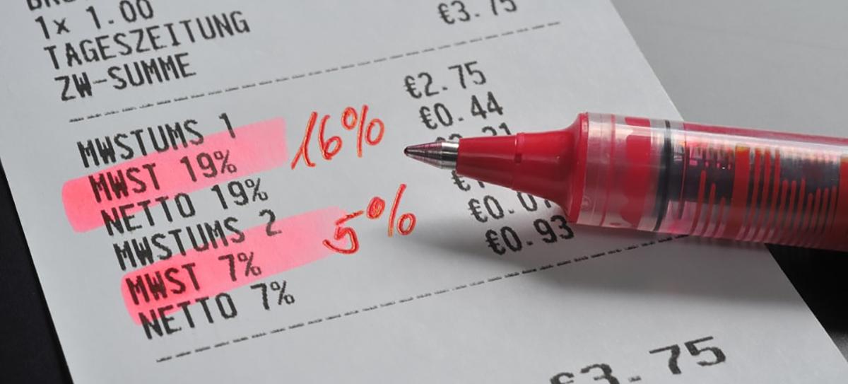 Absenkung der Umsatzsteuersätze + Corona-Steuerhilfegesetze